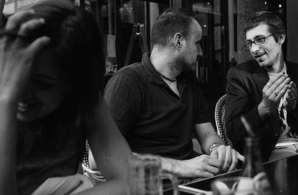 F.Usai, R.Josset et F.La Rocca, Chercheurs, à  l'Escolier Fabio la Rocca Raphaël Josset Federica Usai CEAQ Paris L'escolier