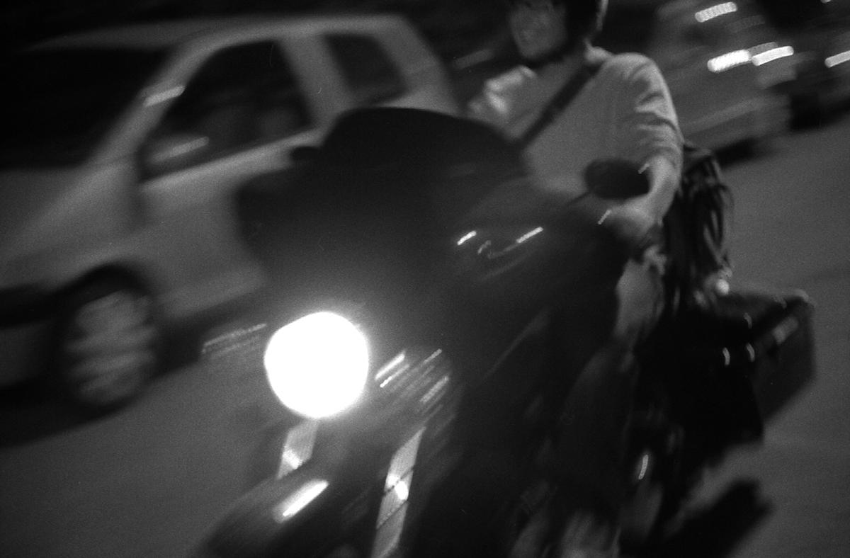 Massimiliano sur sa Harley