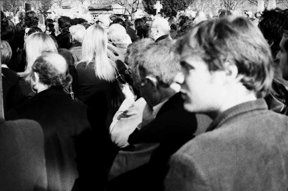 Enterrement de Jean Baudrillard, au cimetierre du Montparnasse